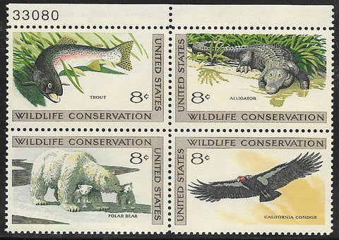 US 1430a MNH - Wildlife Conservation - With Plate Number