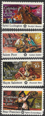 US 1559-1562 MNH - Contributors to the Cause