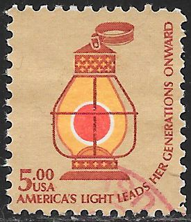 US 1612 Used- Americana Issue - Railroad Conductor's Lantern c. 1850
