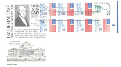 US 1623a FDC - Aristocrat - Flag & Capitol - Booklet Pane