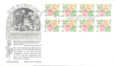 US 1737a FDC ArtCraft - Roses - Booklet Pane
