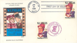 US 1803 FDC Collins Cachet- W.C. Fields