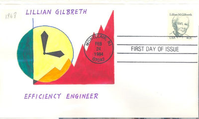 US 1868 FDC - Charlton Cachet 19 of 20 -  Lillian Gilbreth