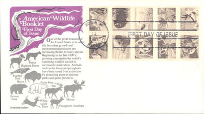 US 1889a FDC - Aristocrat Cachet - Wildlife Booklet Pane