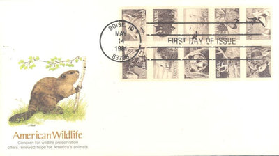 US 1889a FDC - Fleetwood Cachet - Wildlife Booklet Pane