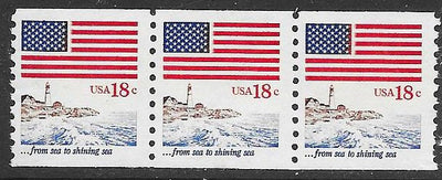 US 1891 MNH Strip of 3 -