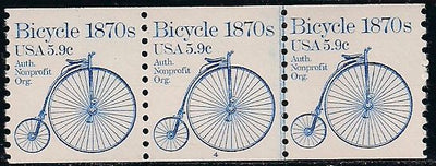 US 1901 MNH - PNC 3 - Plate 4 - Bicycle