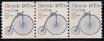 US 1901 MNH - PNC 3 - Plate 3 - Bicycle
