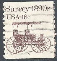 US 1907 Used - PNC Single - Plate 5 - Transportation Series - Surrey 1890s