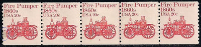 US 1908 MNH - PNC 5 - Plate 6 - Fire Pumper - Stain