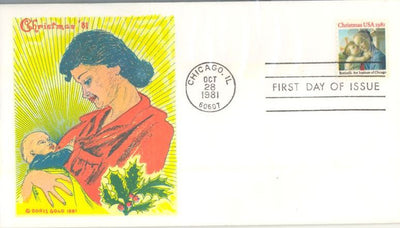 US 1939 FDC - Doris Gold - Christmas