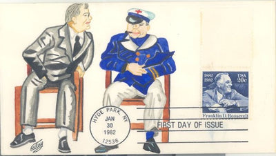 US 1950 FDC - C.W. Ray Add On Cachet - FDR