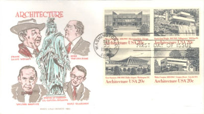US 2022a FDC - Doris Gold Cachet - Architecture