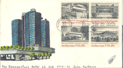 US 2022a FDC - C.W. Ray Add On Cachet - Architecture