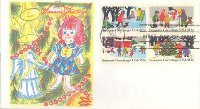 US 2030a FDC - Doris Gold - Christmas