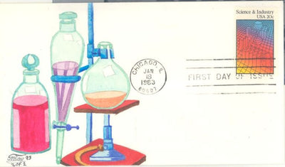 US 2031 FDC - C.W. Ray Add On Cachet - Science & Industry