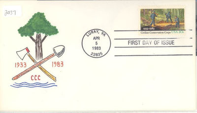 US 2037 FDC - Charlton Cachet - 19 of 20 - Civilian Conservation Corp