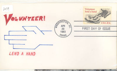 US 2039 FDC - Charlton Cachet - 4 of 20 - Volunteerism