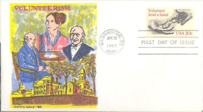 US 2039 FDC - Doris Gold - Volunteerism
