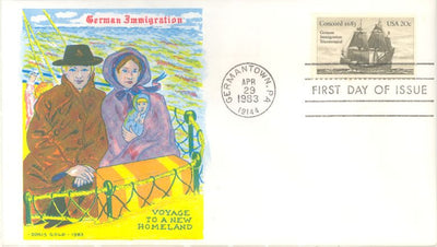 US 2040 FDC - Doris Gold - German Immigration