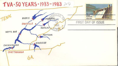 US 2042 FDC - Charlton Cachet - 15 of 24 - TVA