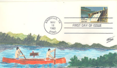 US 2042 FDC - C.W. Ray Add On Cachet - TVA