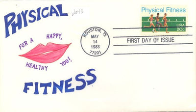 US 2043 FDC - Charlton Cachet - 19 of 20 - Physical Fitness
