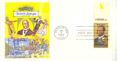 US 2044 - FDC - Doris Gold Cachet - Scott Joplin