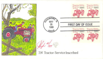 US 2127a FDC - Pugh Cachet - Tractor - 45 of 157