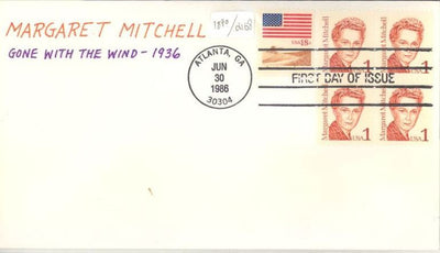 US 2168 FDC - Charlton Cachet 9 of 10 - Margaret Mitchell