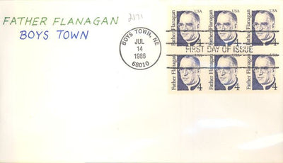 US 2171 FDC - Charlton Cachet 6 of 10 - Father Flanagan