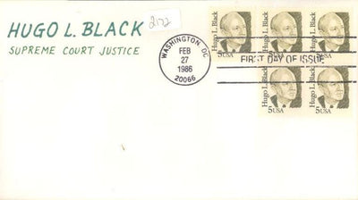 US 2172 FDC - Charlton Cachet 7 of 10 - Hugo Black