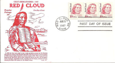 US 2175 FDC - Gamm - Red Cloud