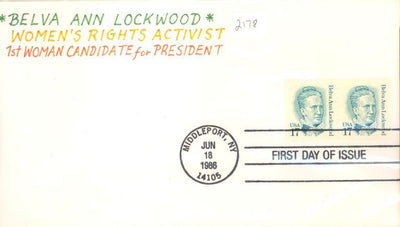 US 2178 FDC - Charlton Cachet 7 of 10 - Belva Ann Lockwood