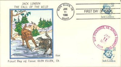US 2182 FDC Van Natta Cachet - Jack London
