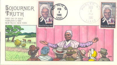 US 2203 FDC - Collins Cachet - Sojourner Truth