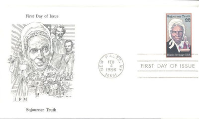 US 2203 FDC - IPM Cachet - Sojourner Truth