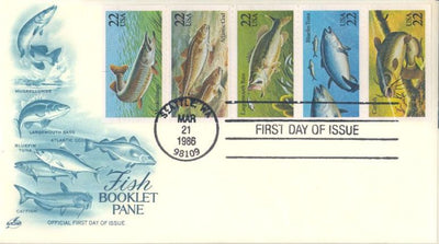 US 2209a FDC - ArtCraft - Fish Booklet Pane