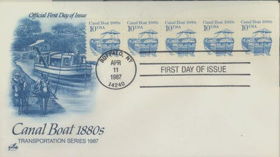 US 2257 FDC PNC 5 Plate 1 - ArtCraft - Canal Boat