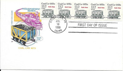 US 2259 FDC - PNC 5 Plate 1 - House of Farnam - Coal Car