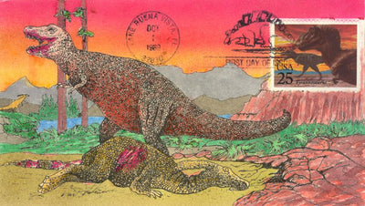 US 2422 FDC - David Peterman Cachet 1 of 29 - T. Rex
