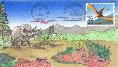 US 2423 FDC - David Peterman Cachet 31 of 48 - Pteranodon