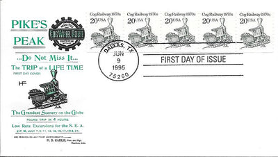 US 2463 FDC - PNC 5 Plate 1 - House of Farnam - Coal Car