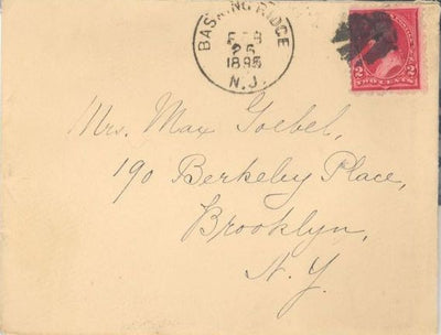 US 250 Basking Ridge, NJ to Brooklyn NY - Leaf Fancy Cancel