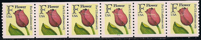 US 2518 MNH - PNC 6 - Plate 2222 - 'F' Flower - Tilted Plate Number