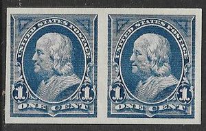 US 264P MNH Pair - Benjamin Franklin