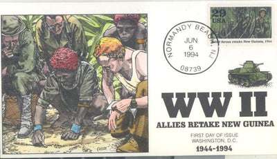 US 2838a FDC - Collins Cachet - 1994 WWII - New Guinea