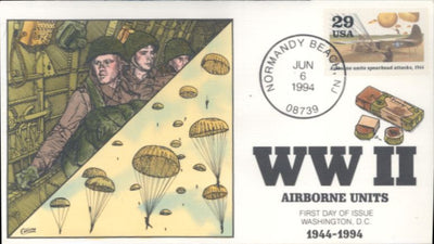 US 2838d - Collins Cachet - 1994 WWII - Airborne Units