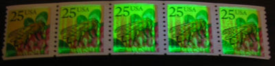 US 2281 MNH - PNC 5 - Plate 1 - Bee Streaky Large Block Tag