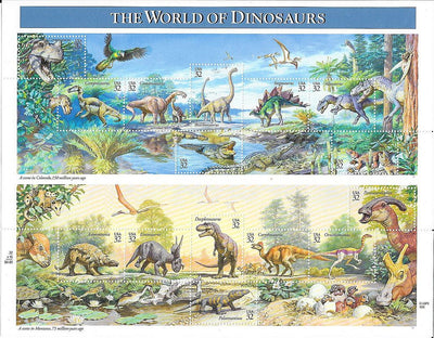 US 3136 MNH - The World of Dinosaurs